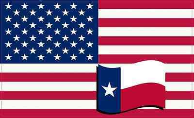 5X3 America and Texas Flag Magnet Vinyl Patriotic Cup Decal Car Vehicle Magnets