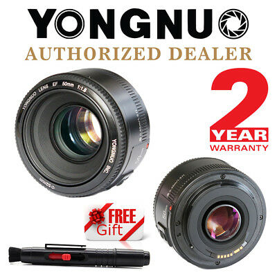 Yongnuo YN 50mm F/1.8 AF MF Prime Fixed Lens for Canon + Cleaning Pen US