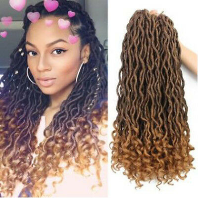Bohemian Curly Crochet Braid Hair Synthetic Hair Extensions Fiber 5 Colors 6A