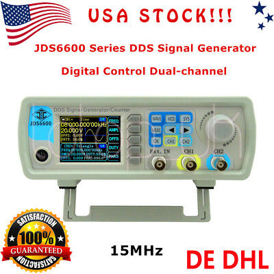 JDS6600 15MHz Digital Dual-channel DDS Function Signal Generator Counter US SHIP