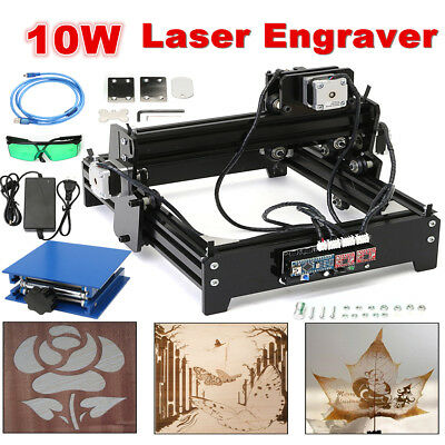 USB Desktop 10W  CNC Laser Engraver Engraving Machine Metal Stone Printer Cutter