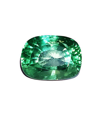 Loose Gemstone Cushion Shape 15.22 Ct Lab Created Brazilian Emerald
