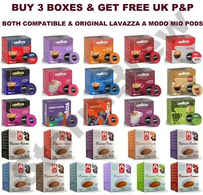 Lavazza A Modo Mio Coffee Pods Packs. Both Original & Compatible Capsules