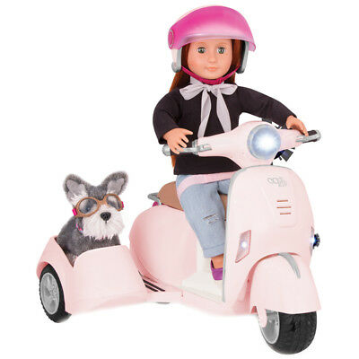 Our Generation Ride Along Scooter with Detachable Sidecar For Dolls NEW