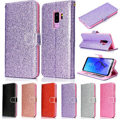 Bling Glitter Magnetic Flip Wallet Leather Stand Case For Samsung S9/S9+ Note 9