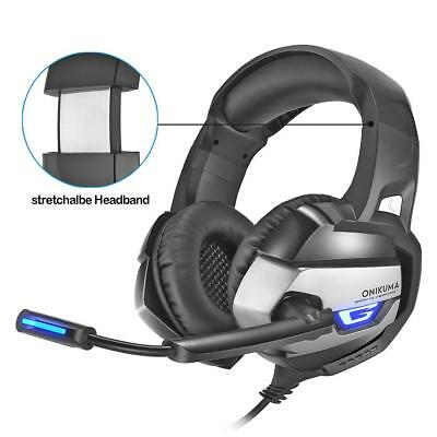 ONIKUMA K5 Gaming Headset Heavy Bass Stereo Headphones LED Light Earphone w/ Mic