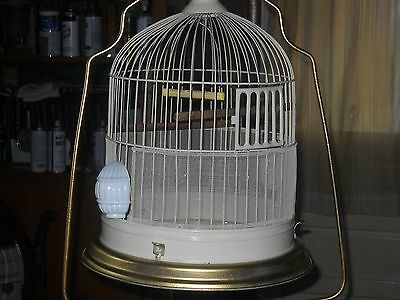 vintage antique hendryx style bird cage and stand
