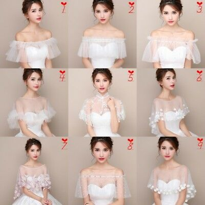 Bridal Lace Shrug Bolero Cape Wrap Shawl Capelet Tippet Tutu Tulle Wedding White