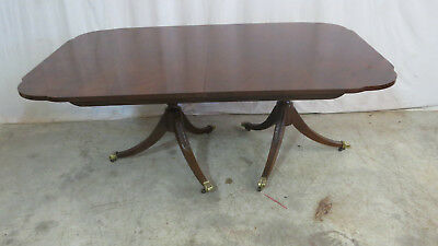 Drexel Flame Mahogany Dining Room Table Dining Set