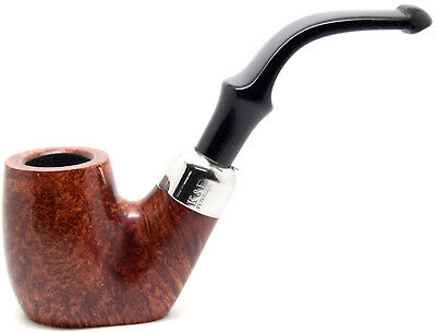 Sale - Peterson System Briar Pipe Smooth Finish Large Bent Flat Bottom Pipe 306