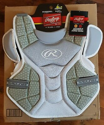 """Rawlings Velo Chest Protector Adult 14"""" White/Grey New with tags"""