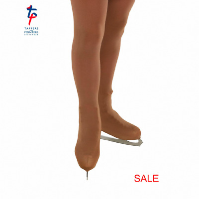 ICE SKATING TIGHTS, OVER THE BOOT, Colour: Dark Suntan Size XS Age 12 - 14 years