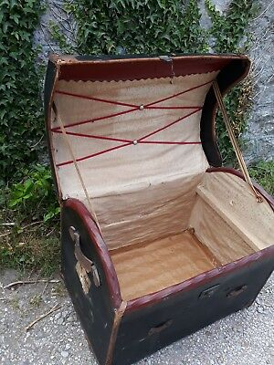 domed top travelling trunk