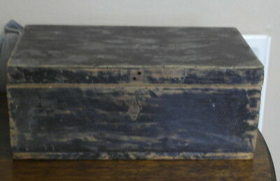 antique wood small BLANKET BOX TOOL BOX