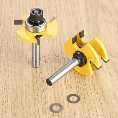 2pcs 8mm Shank Router Bit Cutter Woodworking Cutting Milling Trimming Hand Tool