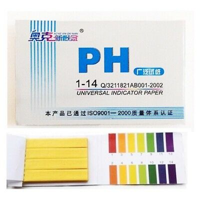 Litmus pH 1 to 14 Test Paper Book 80 Strips Universal Indicator
