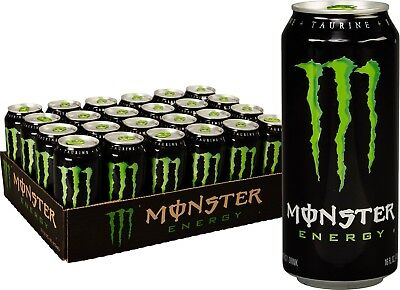 Monster Energy Powerful Booster Punch Smooth Flavor Original 16 oz. Pack of 24