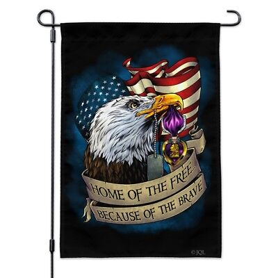 Home Of The Free Because Of The Brave Flag QNK192F House Flag Garden Flag