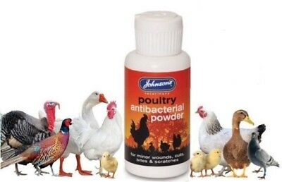 Johnson's Poultry Antibacterial Wound Powder Abrasions Cuts Grazes Scratches