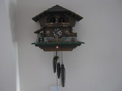 Large Swiss Musical Automaton Cuckoo Clock GWO