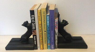 Frankart Style Cats Up & Down Bookends Art Deco