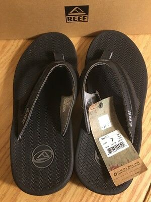 f2d0a27ad6c Reef Men s 2444 Flex Black Flip Flop Outdoor Sandal Size 7 New With Tags in  Box