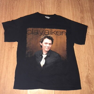 Clay Aiken 2004 Concert Tour T Shirt American Idol Contestant Mens Medium