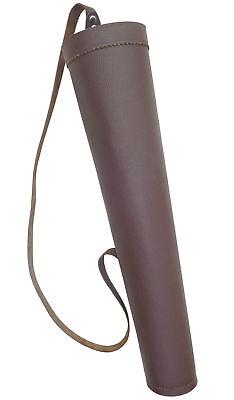 New Traditional Mild Leather Back Arrow Quiver Archery Products Bfaq8316Mild.