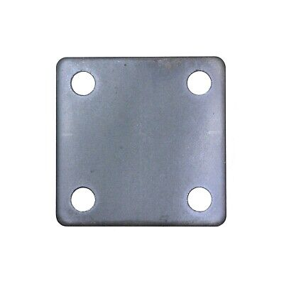 FLAT SQUARE STEEL BASE PLATES WITH 4 HOLES | 3x3 4x4 5x5 6x6 | QTY Discounts