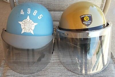 Chicago and Cook County Police Riot Helmets