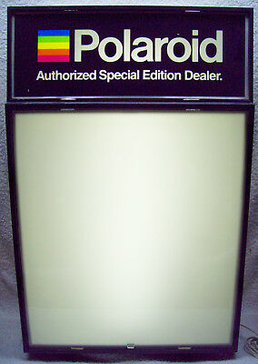 """""""Polaroid Authorized Special Edition Dealer"""" 1976 Lighted Advertising Sign"""