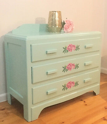Tallboy Chest of drawers with 3 drawers unique refurbished design