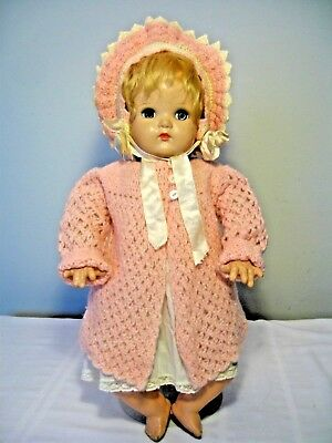 "VINTAGE 20"" MADAME ALEXANDER MCGUFFEY/LITTLE GENIUS COMPOSITION and CLOTH DOLL"