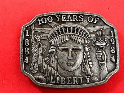 LIMITED.  Vintage Belt Buckle 100 Years of Liberty 1886 1986   Statue of Liberty