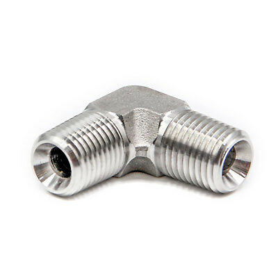 "HFS(R) Stainless Steel 304 Forged Pipe Fitting, Elbow, 1/4"" NPT Male"