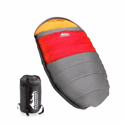 #DEALS Pebble Camping Sleeping Bag Outdoor Hiking Tent Winter King XL -15℃ Red