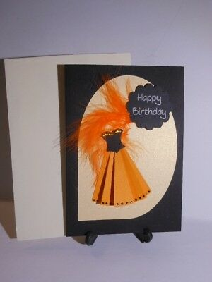 Happy Birthday Dress Card - Hand made for a Special Lady inc. envelope