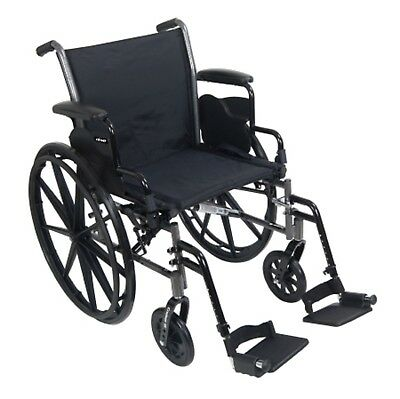 MCKDS Lightweight Wc McKesson Dual Axle Flip Back, Padded, Removable Arm Style