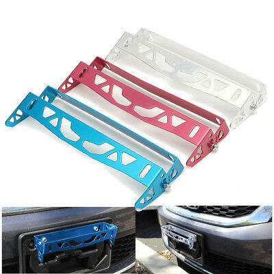 Universal Aluminum Alloy Front Bumper Tilt Mount License Plate Holder Bracket