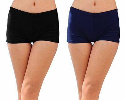New Womens Ladies Shorts Swimwear Bottoms Brief Underwear Bikini Plain Swimming