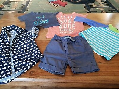 3ccb14db4d6 Baby boys clothes bundle 3-6 months Ted baker boho shirt swim top summer  Next