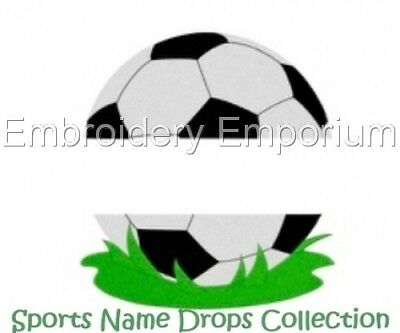 Sports Name Drops Collection - Machine Embroidery Designs On Cd