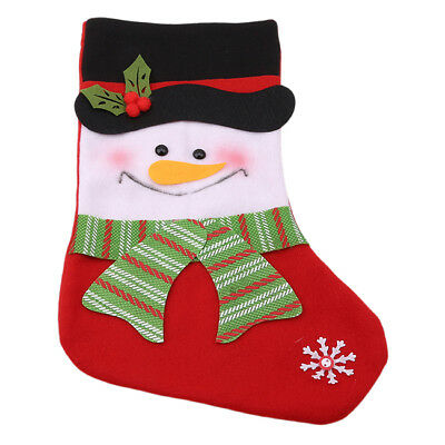 CHRISTMAS STOCKING: Red or Green Embroidered XMAS 6A
