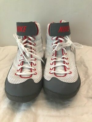 new arrivals e397f 24dfb NEW Nike Mens Inflict 3 Wrestling Shoes Red Gray White 325256-106 Size 12