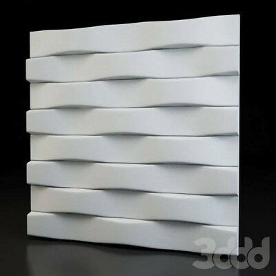 *PARALLEL* 3D Decorative Wall Stone Panels. ABS Form Plastic mould for Gypsum