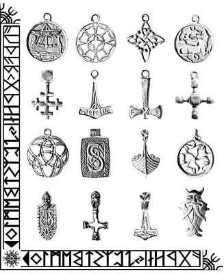 Trove of Valhalla Viking Pendant LEAD FREE PEWTER Odin Thor Pagan Wicca Necklace