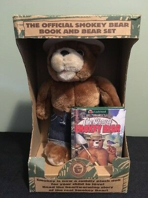 OFFICIAL SMOKEY THE BEAR AND BOOK SET in original box 1996