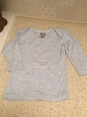 baby top unisex 00 Cotton/Wool Long Sleeve Blue