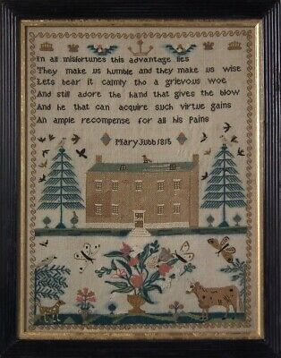 Antique Sampler, 1815, by Mary Jubb