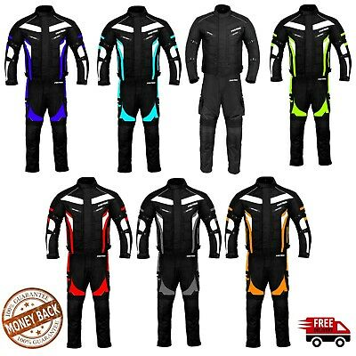 Motorbike Suit Motorcycle Jacket Trouser Full Waterproof CE Armour Racing Suit